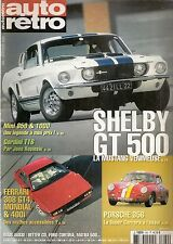 AUTO RETRO 260 MUSTANG SHELBY GT 500 BITTER CD GORDINI T16 MATRA 530 CHAPARRAL