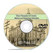 Iowa IA People & Civil War Family History and Genealogy 148 Books DVD CD B38