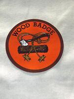 VINTAGE BSA BOY SCOUTS OF AMERICA  WOOD BADGE DECAL