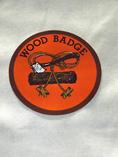 VINTAGE BSA BOY SCOUTS OF AMERICA  WOOD BADGE DECAL