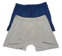 100% Silk Knit Men's Underwear Boxer Briefs Size L XL 2XL 3XL