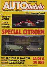 AUTO HEBDO n°464 du 28 Mars 1985 SPECIAL CITROEN, BX SPORT