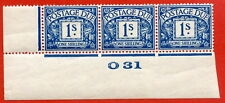 "SG. D17. R17. 1/- deep blue. A fine lightly mounted mint "" control O31 imperf """