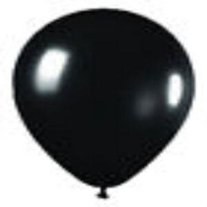 "12 METALLIC BLACK LATEX BALLOONS HELIUM GRADE 11"""