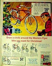 1965 Western Auto Galaxy Flyer Bicycles/Bikes Christmas~Santa~Pleasing Price AD