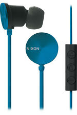 Nixon Wire In-Ear 3-Button Mic 8mm Headphones (Blue / Drab)