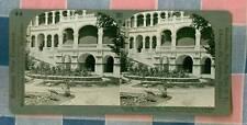 Old Keystone Stereoview 801 Khartoum Sudan Sirdar's Palace and Shoebill Stork