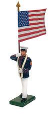 BRITAINS soldats 48512 - porteur de la norme de l'USMC, drapeau américain, robe d'été