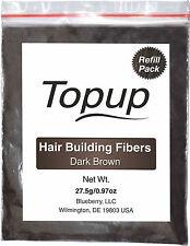 TOPPIK, Refill with TOPUP Hair Building Fiber -Dark Brown 27gm 100% Natural