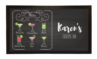 PERSONALISED BAR MAT CUSTOM RUNNER GIFT NOVELTY FUNNY BEER PUB COCKTAIL MENU