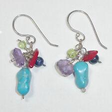 f7d1cbd20 Silpada Turquoise Coral Multi Color Earrings W1034 Drop Dangle Bead NEW