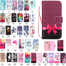 For iPhone 8 8 Plus/7 6s SE Magnetic Pattern PU Leather Flip Wallet Case Cover
