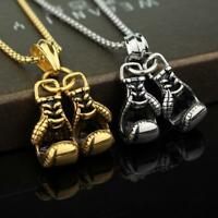 Fashion Jewelry 3D Boxing Glove Charm Pendant Necklace Stainless Steel Gift s