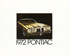 Pontiac Grand Prix ville Bonneville Catalina Firebird LEMANS GTO PROSPEKT 1972 F