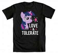 My Little Pony Love and Tolerate T-shirt Anime Licensed MLP NEW