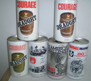 6 Old Aussie beer cans -  all different  Courage