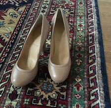 JCrew Coddington Platform Heels, Leather, Nude, 6, New