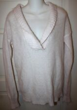 J CREW Womens Pink Mohair Wool Sweater Shawl V Neck Long Sleeve Size Small S