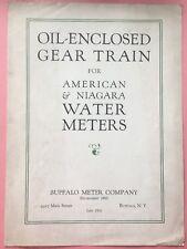 JE127 Vtg 1931 Ad Oil Enclosed Gear Train for American & Niagara Water Meters