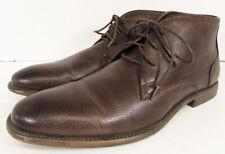 Robert Wayne Mens Graham Chukka Ankle Boot Shoes, Textured Rust, US 12