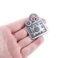 5X Tibetan Silver Steampunk Clock Gear Charm Pendant 50*36MM Fit DIY Jewelry