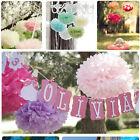 "5/10pcs Tissue Paper Pom Poms Flower Ball Wedding Party Birthday Decor 6""/8""/10"""