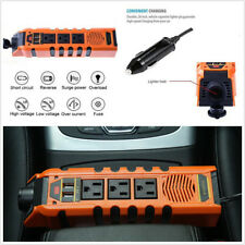 150W DC 12V to AC 110V Car Power Converter Charger With 2 USB Cigarette Lighter