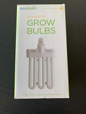 New 2 Pk Genuine AeroGarden Deluxe B Replacement Grow Light Bulbs #100340 26w