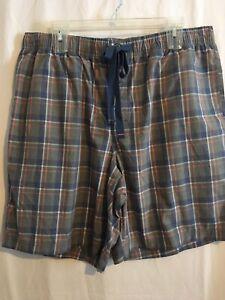 Cremieux Men Sleep Lounge Pajama Shorts Sz XLT 2XB Multicolor Plaid NWT