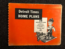 1950 DETROIT TIMES HOMES-50 SKETCHES AND PLANS FOR SMALL HOME BUILDER