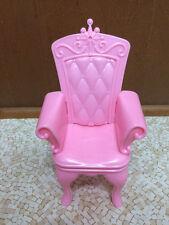 Barbie Doll House Swan Lake Castle Princess Prince Pink Throne Chair Furniture