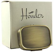 Bronze Metal Pill Box Travel Case Decorative Container Vitamin Holder Organizer