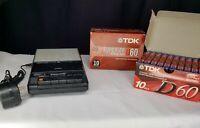 VTG Panasonic RQ-2745 Slim Line Cassette Tape Recorder Tested w 20 NEW TAPES