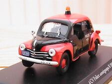 "RENAULT 4 CV R1062 ""pie police de Monaco"" 1956 1/43ème neuve en boite d'origine"