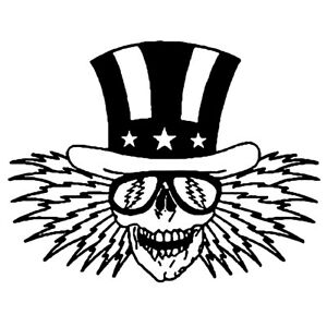 Grateful Dead Uncle Sam Vinyl Decal Sticker Jerry Garcia Hippie Rock n Roll