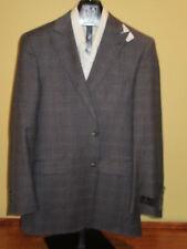 $895 New Jos A Bank JOSEPH Grey plaid pattern suit 40 L 34 W Slim fit