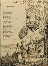 F.BECK (19.Jhd), Grußkarte mit  Weihnachtsgedicht, Rad.