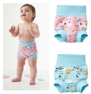 Happy Nappy Swim Nappy Cover Baby Boys Girls Pink Blue Neoprene Pool Protection