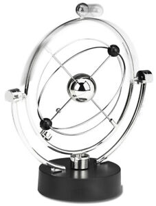 Perpetual Motion Desk Sculpture Toy - Kinetic Art Galaxy Magnetic Mobile
