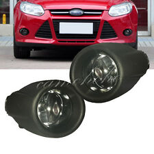 For 12-14 Ford Focus Bumper Fog Lights Driving Lamps w/ Bulb+Black Grille Cover