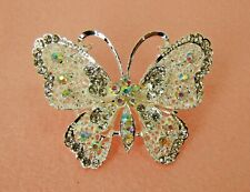 Sparkling Large Crystal Butterfly Pin Brooch  - Woman's fashion Jewelry - NEW