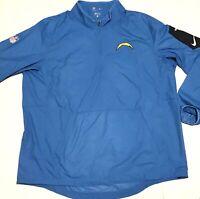 Nike Men's San Diego Chargers Lockdown Half-Zip Jacket X-Large