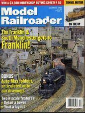 Model Railroader Magazine December 1999 Franklin & South Manchester