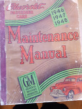 GENUINE GM CHEVROLET 1946 47 48 49 FACTORY WORKSHOP MANUAL GOOD USED CONDITION