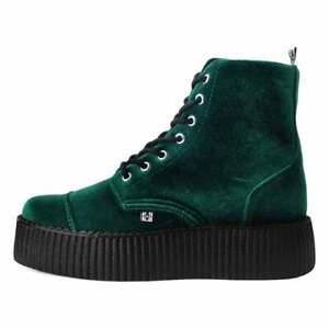 T.U.K. 7-Eye Green Velvet Viva Creeper Boot