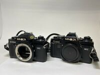 (2) Minolta X-700 35mm SLR Film Camera Body Only  FOR PARTS OR REPAIR | UNTESTED