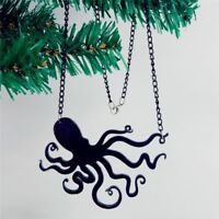 Jellyfish Octopus Pendant Necklace Sweater Chain Punk Women Jewelry Chic.'