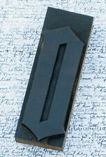 "letter: o rare blackletter wood type 4.84"" woodtype letterpress printing antique"