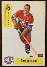 1958-59 Parkhurst Hockey Card #10 Tom Johnson