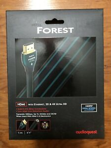 AudioQuest Forest HDMI Cable New in Box 1M 1 Meter (3 FT 4 IN)